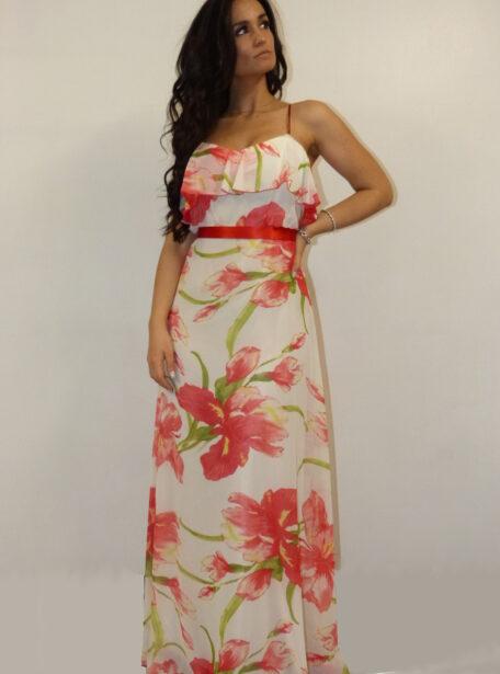 vestido largo estampado Zaragoza 376-1