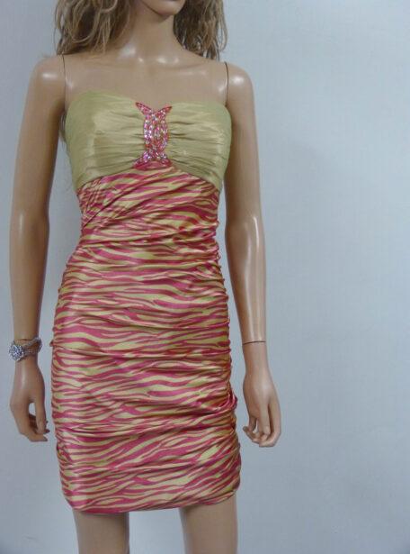 vestido corto entallado Zaragoza 405-1