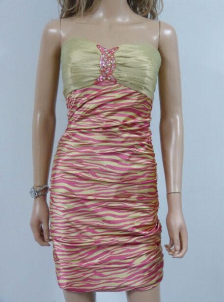vestido corto entallado Zaragoza 405-11