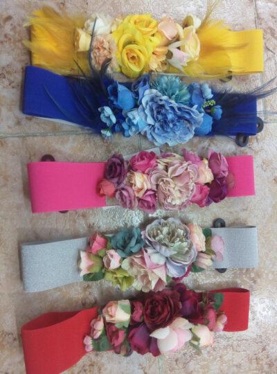 cinturones flores elásticos 1
