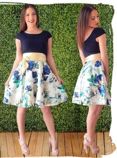 vestido corto estampado 383-2