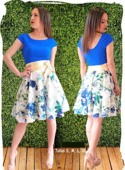 vestido corto estampado 383-3