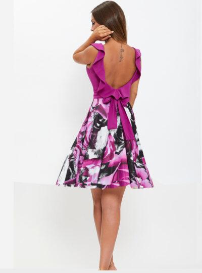 vestido corto estampado Calatayud 570-1