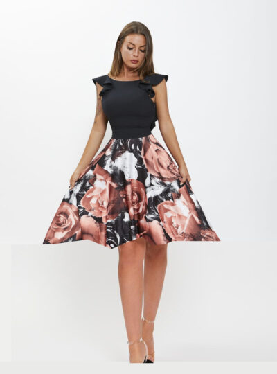 vestido corto estampado Calatayud 570