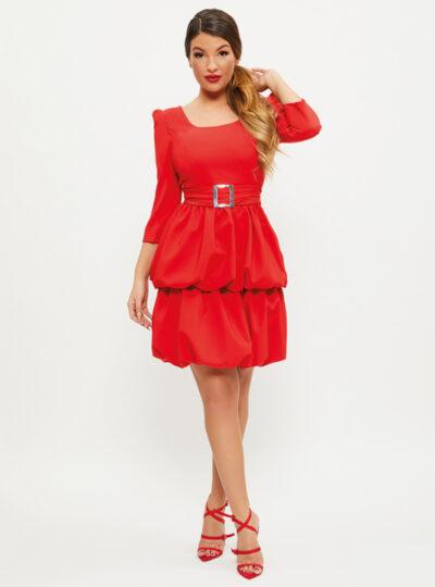 vestido corto con manga Huesca 542