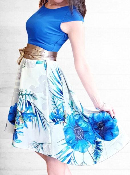 vestido combinado Zaragoza 589-1