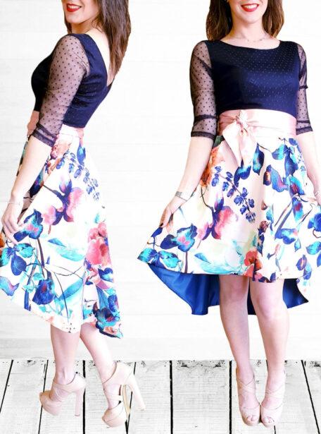 vestido combinado Zaragoza 590-1
