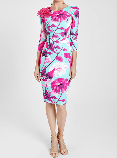 vestido recto estampado