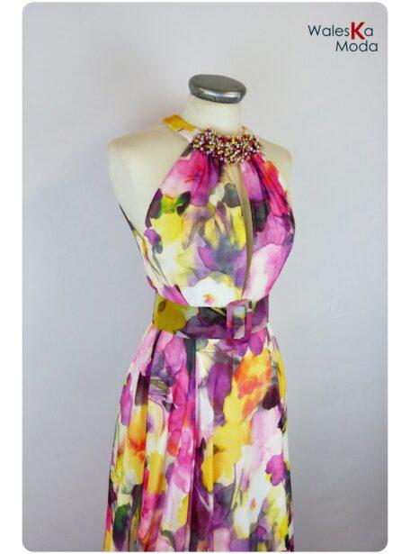 Vestido estampado Burgos 655-1