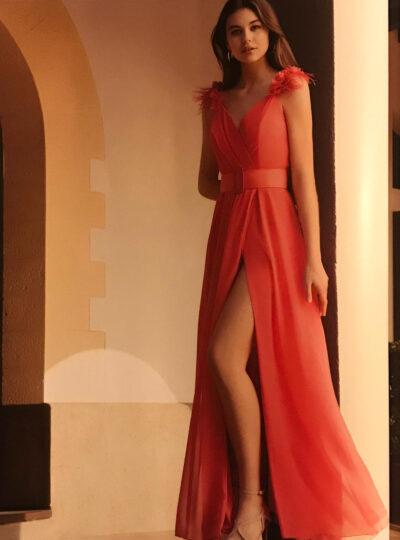 vestido rosa Teruel 626
