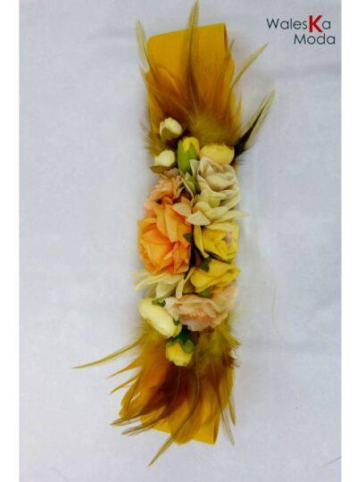 Cinturón flores amarillo