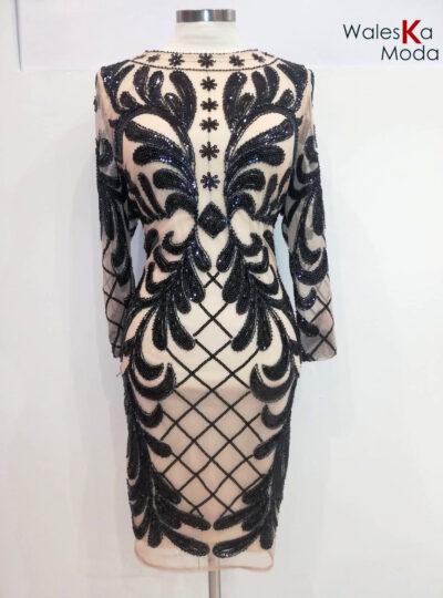 Vestido corto pedrería 685