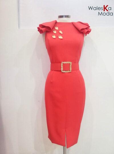 Vestido coral Tudela 672-2