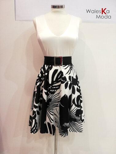 Vestido blanco y negro 686