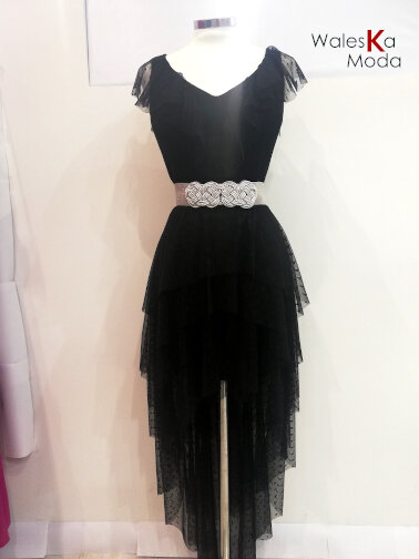 Vestido corto negro 687