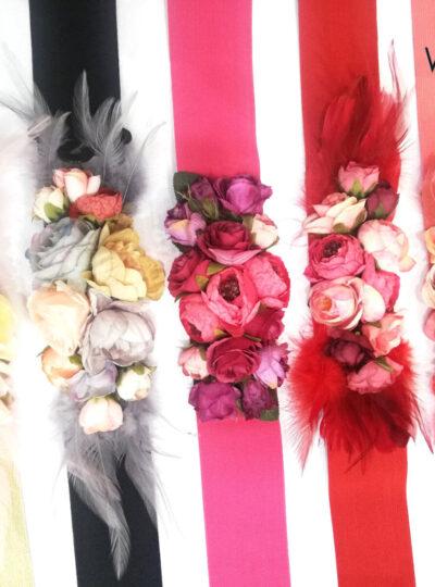 Cinturones flores 696