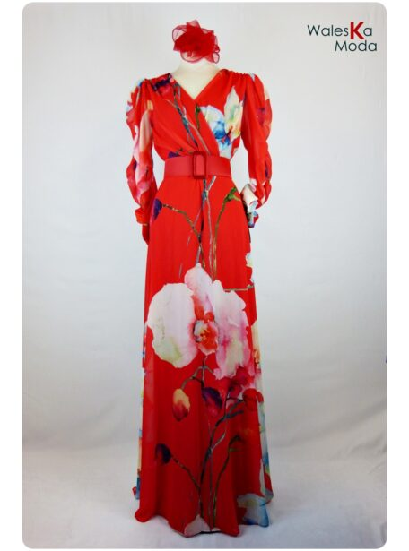 Vestido estampado Burgos 656-1