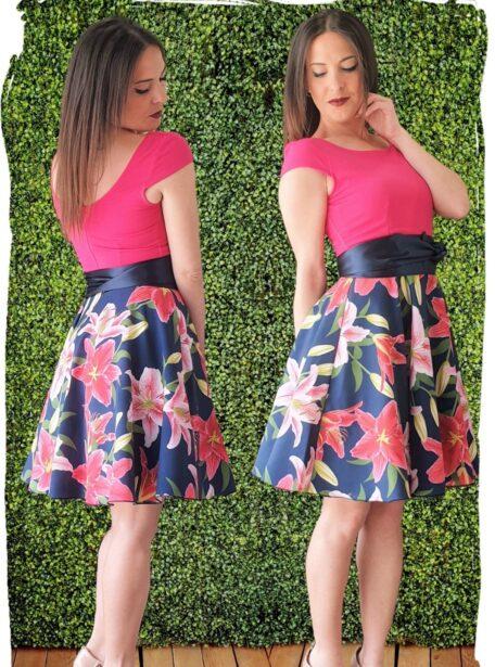 vestido corto estampado 383-4
