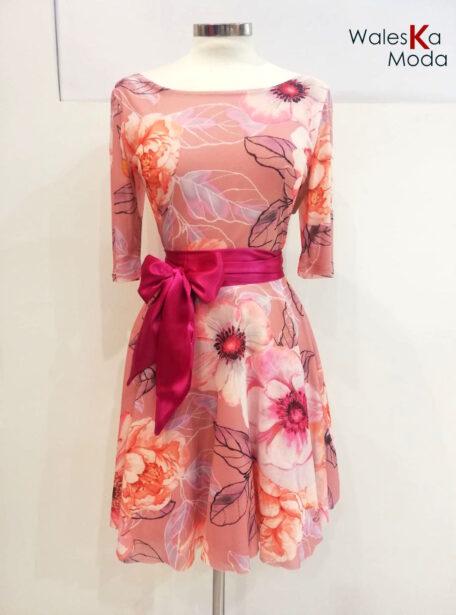 vestido corto estampado 812-1