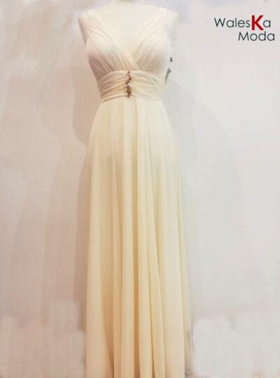 Vestido largo Calatayud blanco 811